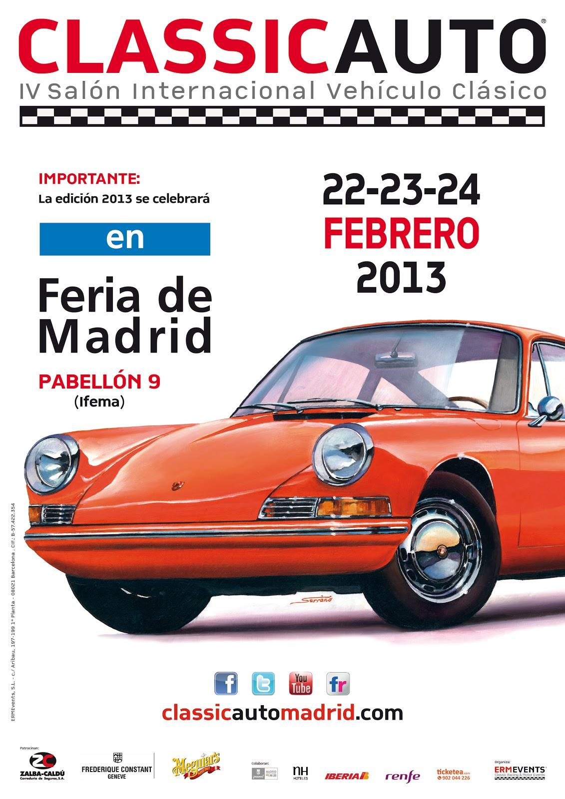 ClassicAuto celebra su cuarta edición en el pabellón 9 de la Feria ...